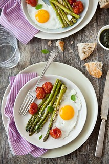Parmesan-Roasted Asparagus, Tomatoes and Eggs | by tartelette