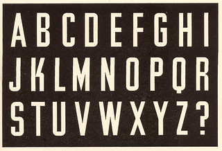 Alphabet formed by Jesse Collins, Industrial Design Partnership, London, from Lettering of Today, 1937 | by mikeyashworth