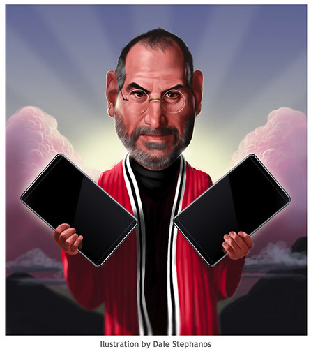 "Steve ""Moses ""Jobs Delivers Tablet 