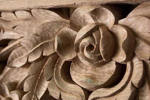 Wooden rose g carved in oak wood igor jandric