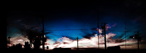 sunset blue #iphonegraphy | by kou hattori