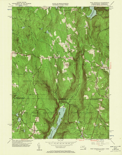 West Granville Quadrangle 1955 - USGS Topographic Map 1:24,000 | by uconnlibrariesmagic