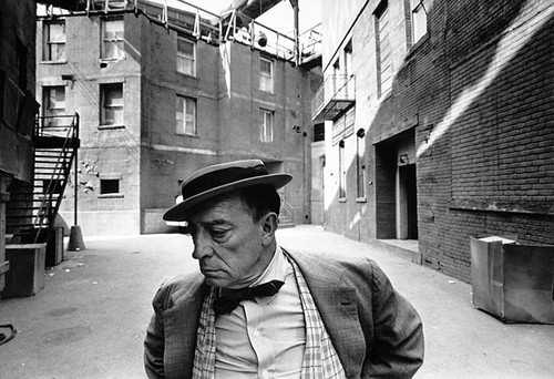 Buster Keaton, MGM backlot, by Lawrence Schiller | by Photo Tractatus