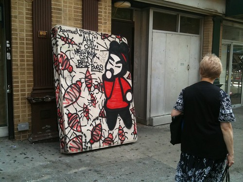 Mattress with Bedbugs Art, on corner of St. Marks Place and 2nd. Ave. | by Dan Nguyen @ New York City