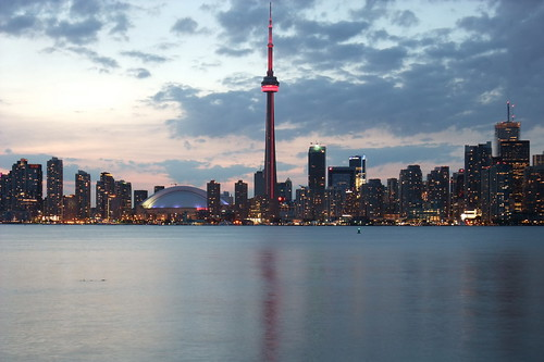 Fuji 200EXR - Toronto Evening Skyline, SkyDome & CN Tower | by Moncton Photographer