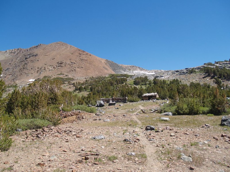 There were several old Miner's Cabins at Mono Pass, and the map showed old mines