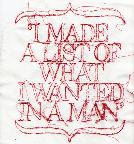 Typography Embroidery Illustration | by RosieG Embroidery
