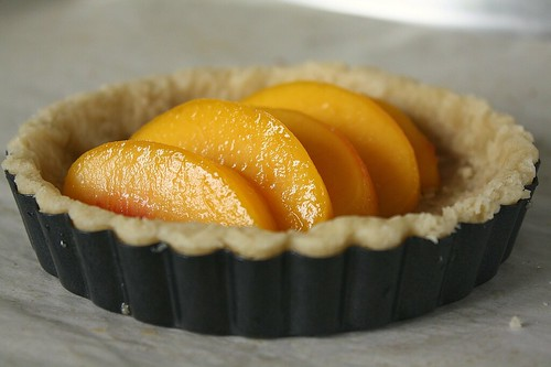 TWD: Crunchy and Custardy Peach Tart | by Tracey's Culinary Adventures