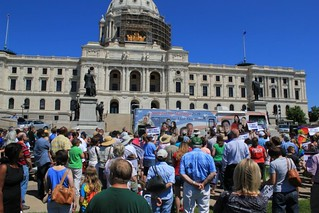 Crowd listens to Brian Brown in St. Paul | by National Organization for Marriage