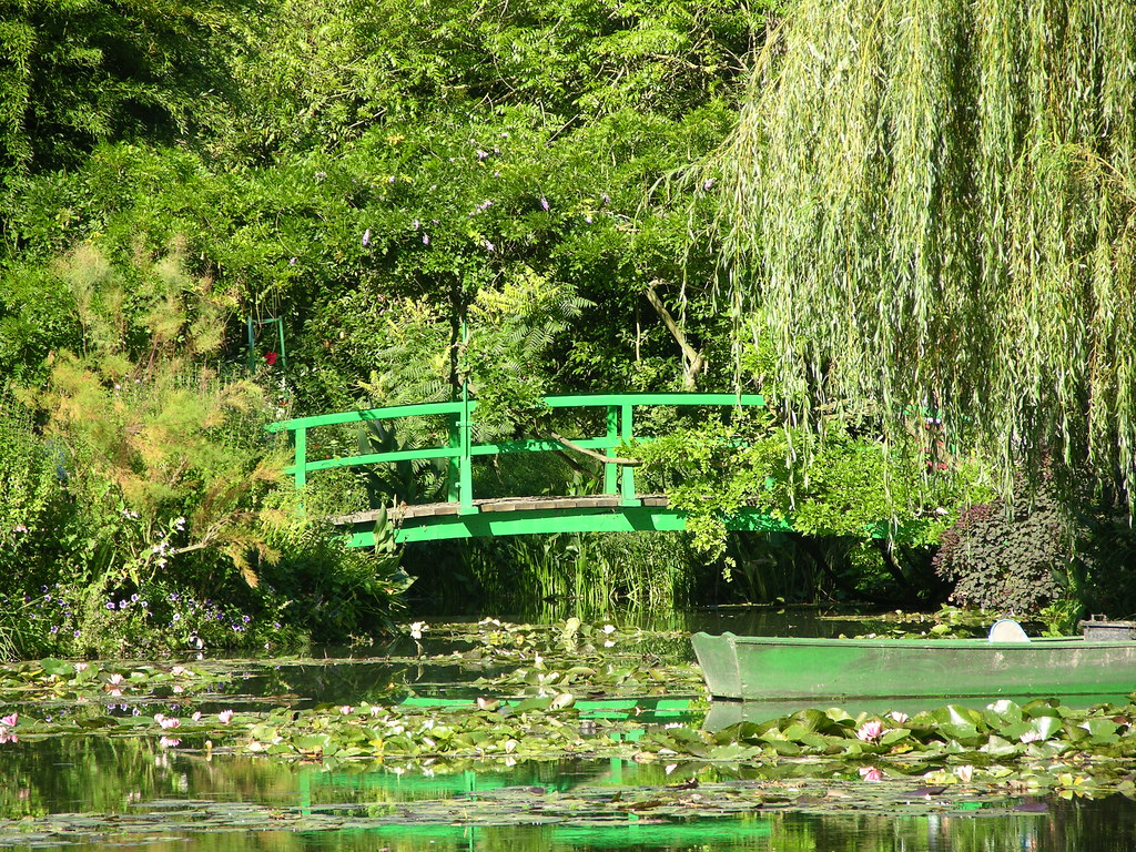 Le jardin de claude monet giverny dans le d partement de for Jardin giverny