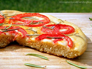 Tomato and Rosemary Focaccia | by CinnamonKitchn
