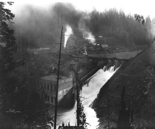 Hydroelectric power plant and dam on the Elwha River near Port Angeles | by UW Digital Collections