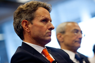 Secretary Timothy F. Geithner,  John Podesta | by Center for American Progress