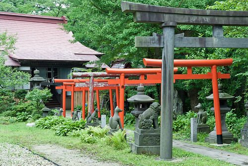 Akita Senshu Park - Yojiro Inari jinja (秋田・千秋公園・与次郎稲荷神社)