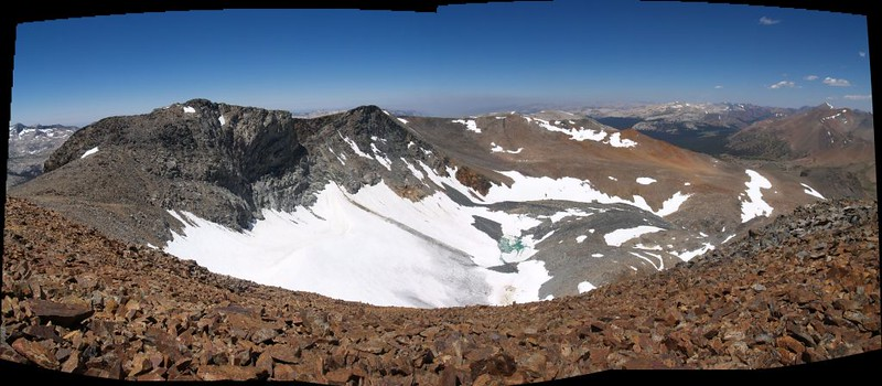 Looking north at the Kuna Crest from the Koip Peak summit