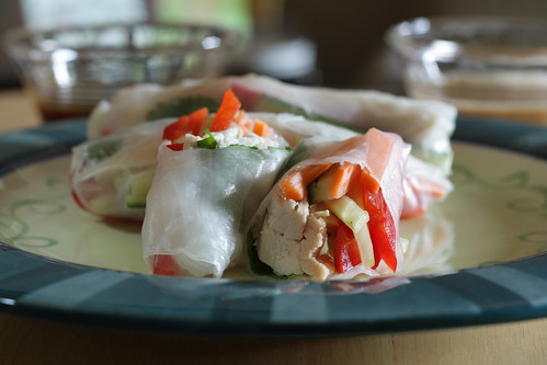 cut summer rolls | by Madison Bistro