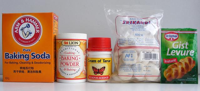 Bakpoeder, natriumbicarbonaat, zuiveringszout