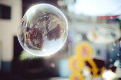 Soap bubble Holiday.