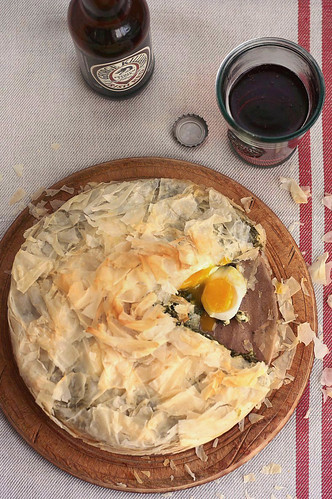 Phyllo Pie with Eggs and Winter Greens | by Xiaolu // 6 Bittersweets