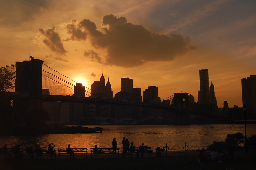 sunset over Lower Manhattan