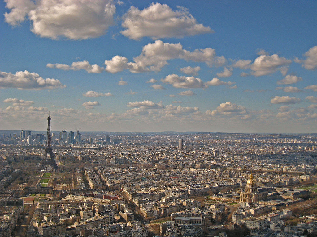 Paris - View from Tour Montparnasse - Tour Eiffel & Invalides