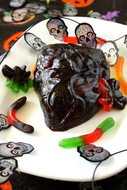 Halloween Jell-o Heart