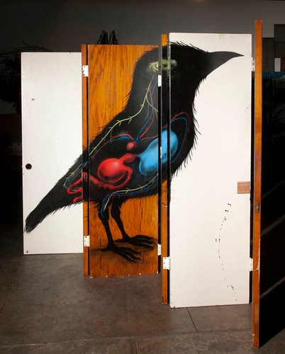 ROA 'Lenticular Bird' various views (four total) | by thinkspace_gallery