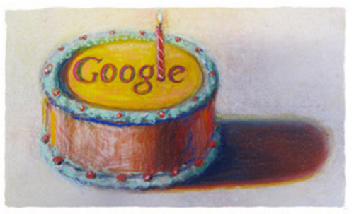 Google's 12th Birthday Logo by Wayne Thiebaud | by Si1very