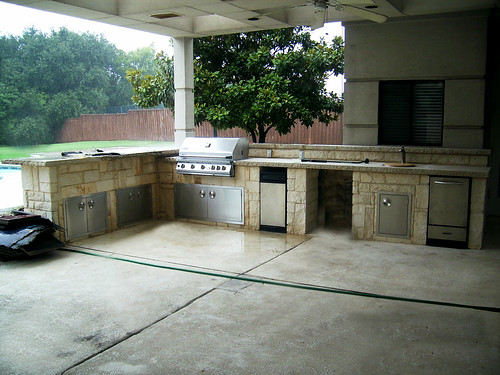 Outdoor Kitchen Design Southlake Texas This Project In Sou Flickr