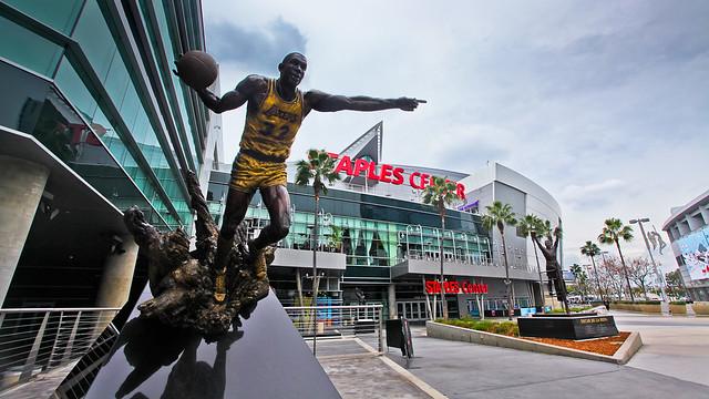 Staples Center & Magic Johnson