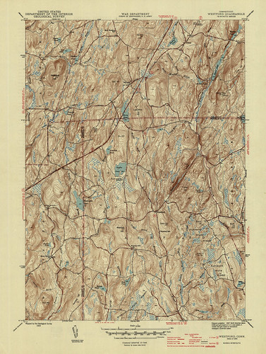 Westford Quadrangle 1945 - USGS Topographic Map 1:31,680 | by uconnlibrariesmagic