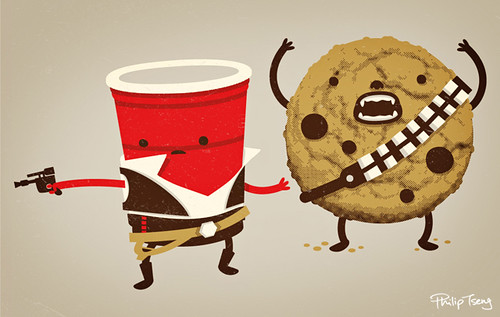 Han Solo Cup & Chewbacca the Cookie | by pilihp