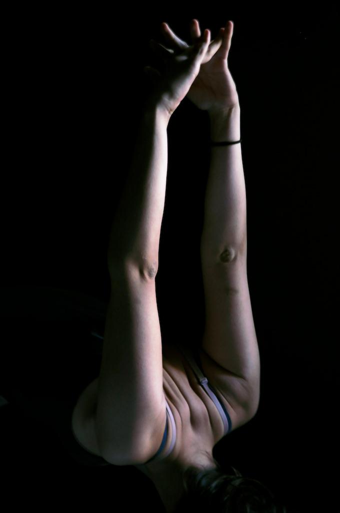 Crina practising yoga