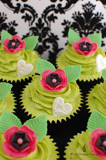 Hot Pink, Black & Lime Green Love | by Little Cottage Cupcakes