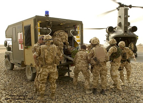 Medical Emergency Response Team Recovers a Casualty in Afghanistan | by Defence Images