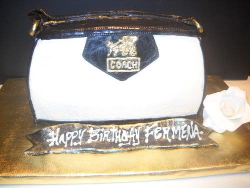 Coach Bag Sculpted Cake | by jeaneve25