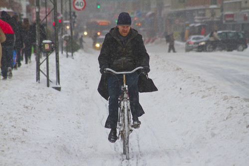 Snowstorm Casual - Winter Cycling in Copenhagen | by Mikael Colville-Andersen