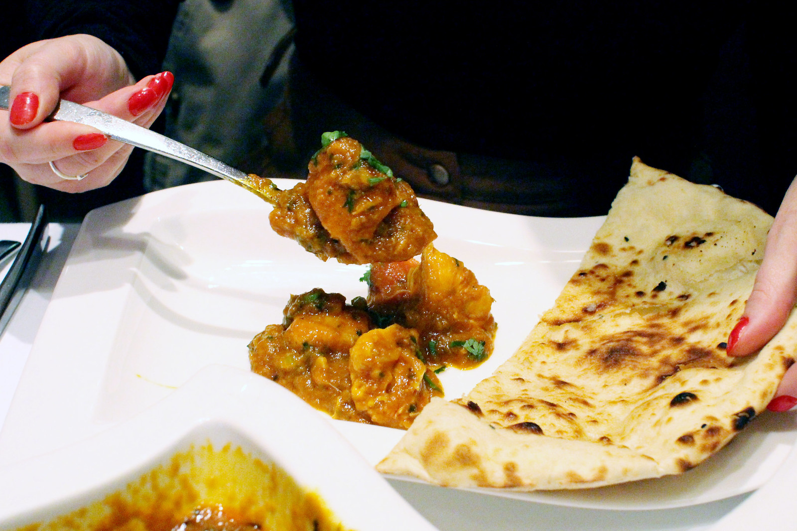 Voujon Indian restaurant Edinburgh, Scotland review