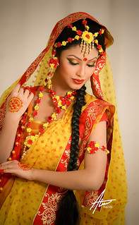 "Bridal : Traditional Bengali Bride during ""Gaye Holud"" ceremony. 