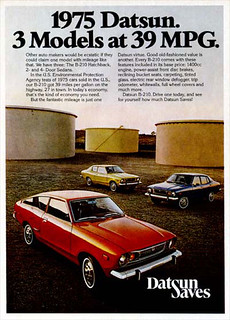 1975 Datsun B210 (120Y) Ad  - USA | by Five Starr Photos ( Aussiefordadverts)