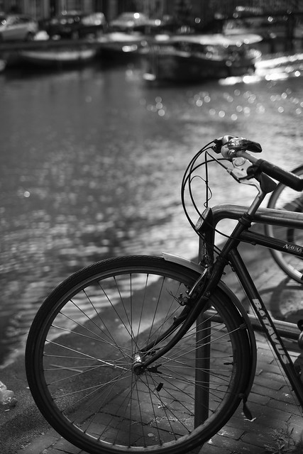 Bike at canal in Amsterdam 43