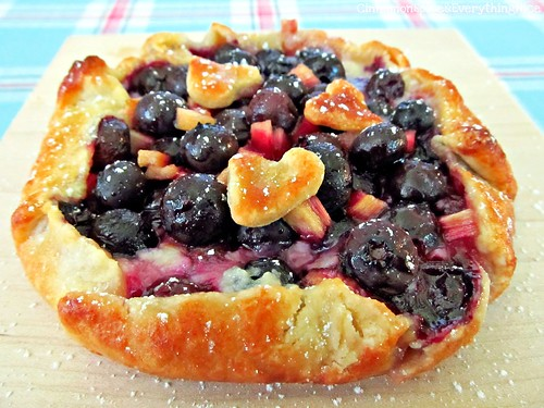 Blueberry Rhubarb Cream Cheese Baby Galette | by CinnamonKitchn