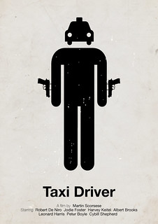 'Taxi Driver' pictogram movie poster | by Viktor Hertz