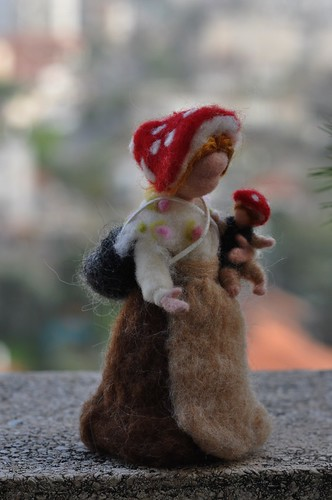 Children of the forest- Forest Mother with a baby-Needle felted soft sculpture- Elsa Beskow and Waldorf Inspired | by daria.lvovsky