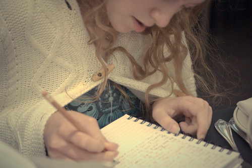 writing in the journal | by erink_photography