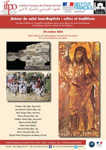 Conférence : Autour de saint Jean-Baptiste : cultes et traditions (Jérusalem le 20 octobre)