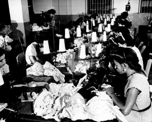 Women making brassieres at the Jem Manufacturing Corp. in Puerto Rico, March 1950 | by Kheel Center, Cornell University Library
