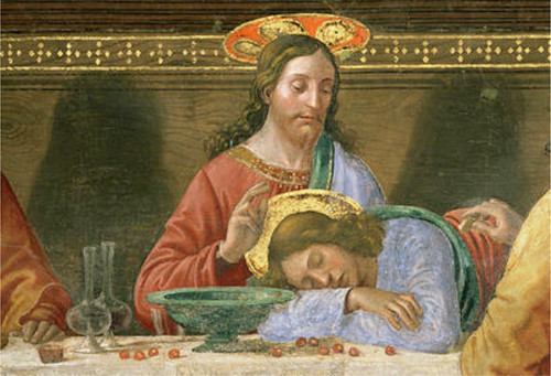 Detail from the The Last Supper - Domenico Ghirlandaio