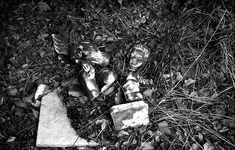 Broken... A fallen angel.