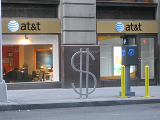 $ at&t (David Byrne bike rack design) | by zombieite